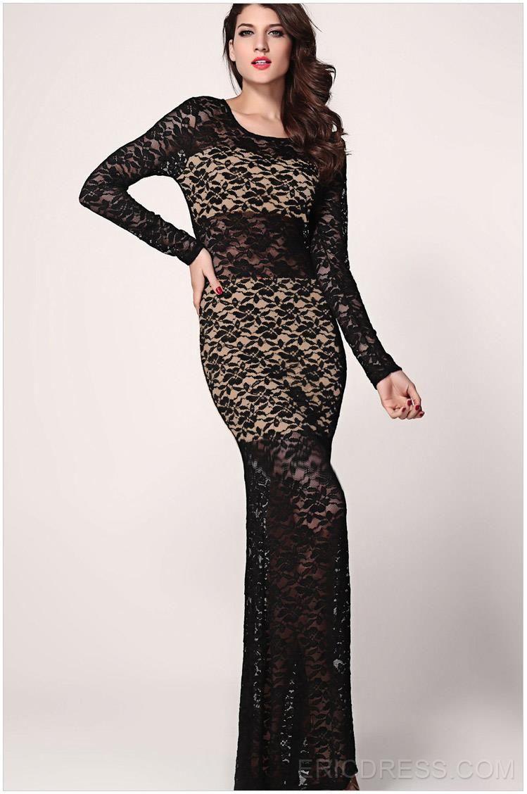 Black lace nude illusion sexy clubwear dresses clubwear wish want