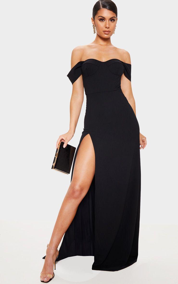 Black Cup Detail Maxi Dress Maxi Dress Dresses Women Dress Online [ 1180 x 740 Pixel ]