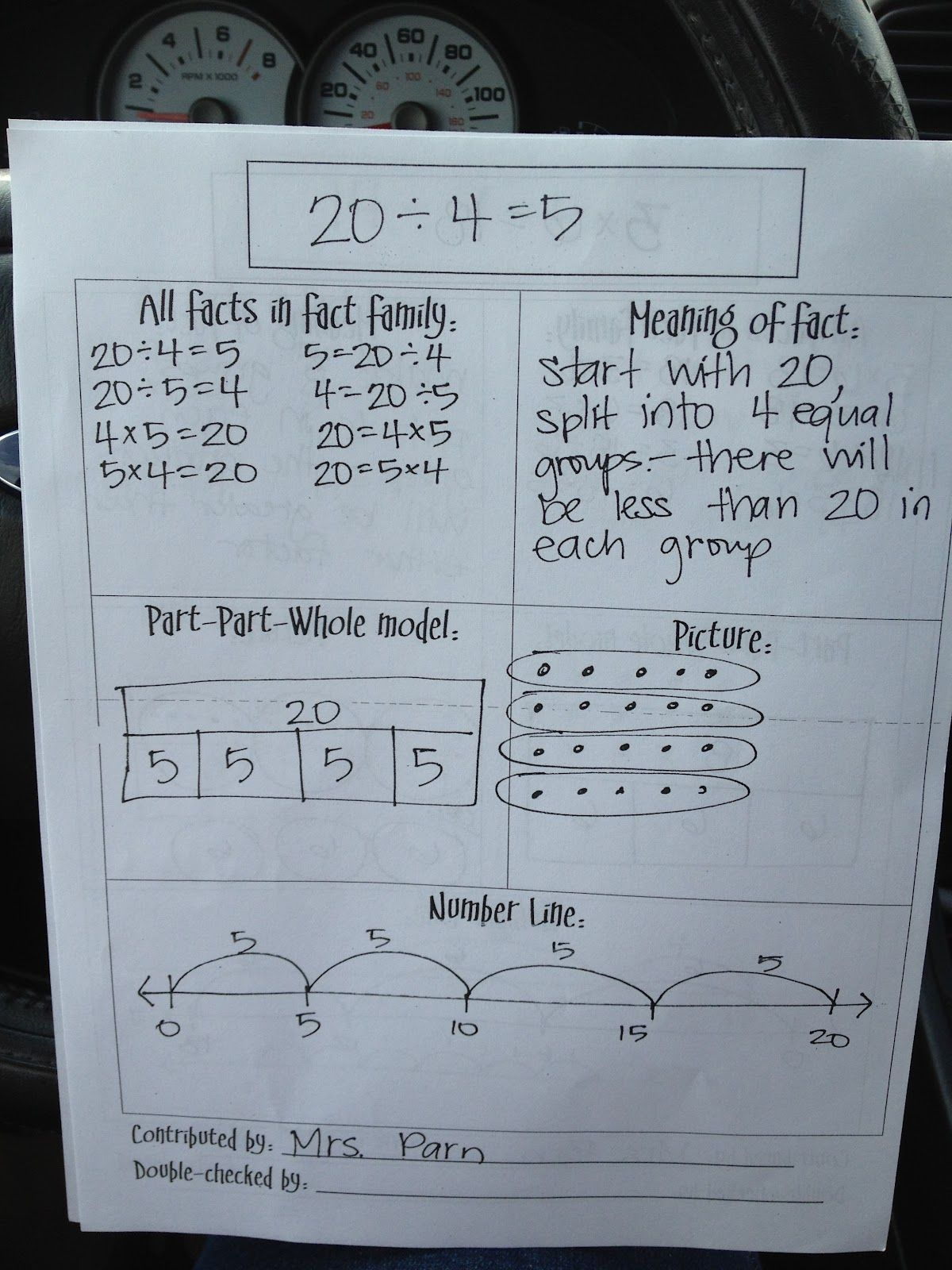 Great Anchor Chart For Division Strategies Primarily Math