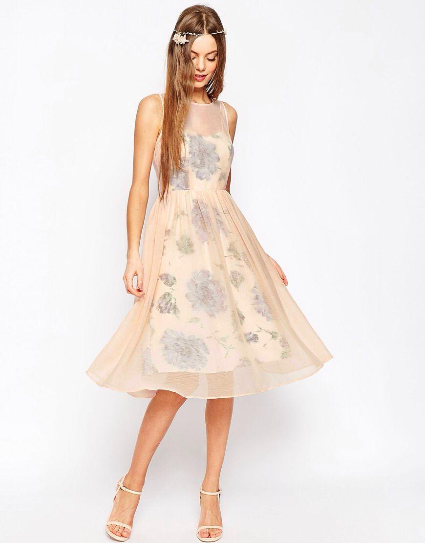 WEDDING - Ballkleid mit Print und transparenter Lage ...