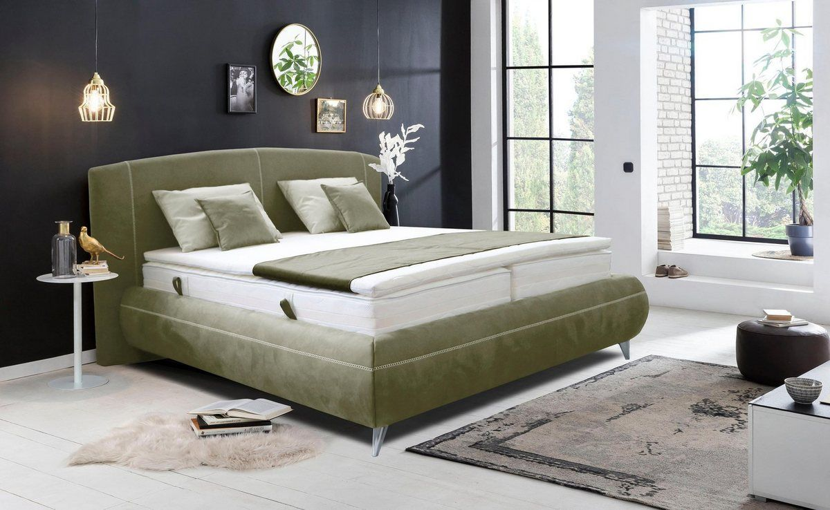 Photo of Upholstered bed »Lanzo«, in various designs, also with mattresses and toppers included – decordiyhome.com/dekor