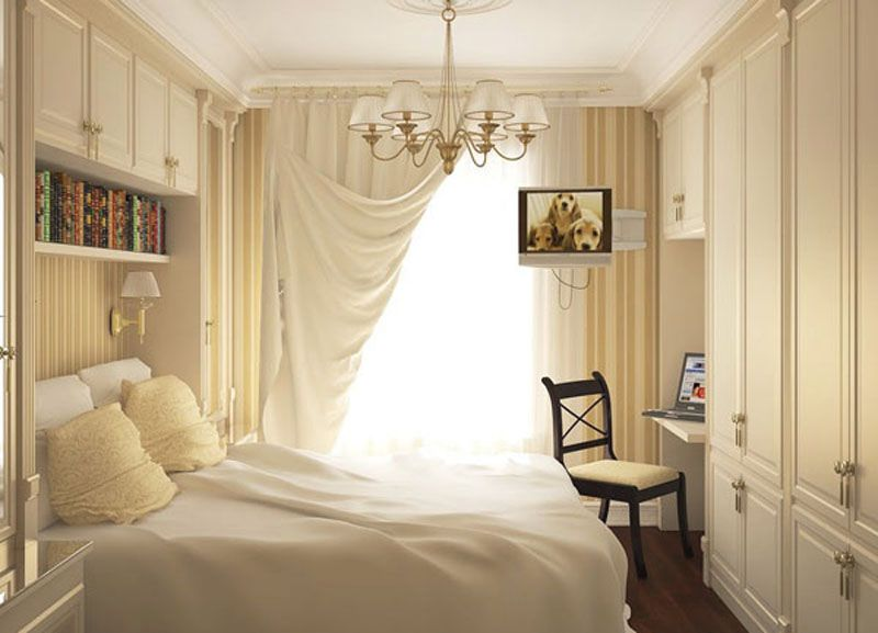 Interior Design Small Bedroom New Small Bedroom Design Idea Love The Pulled Back Curtain  Yellow Design Decoration