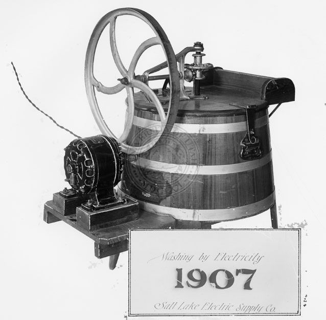 Electric Washing Machine ~ One of the first electric washing machines which were