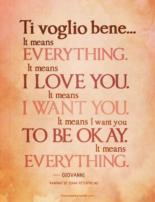 Italian Love Quotes Unique Tvb Ti Voglio Bene #italy #italian Language  Full Blooded