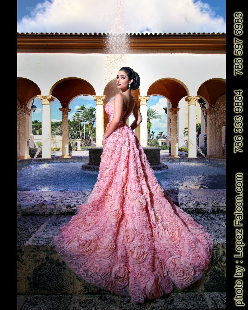 f34064ae0a Biltmore Hotel Quince Photography Miami Quinceanera Dresses Coral