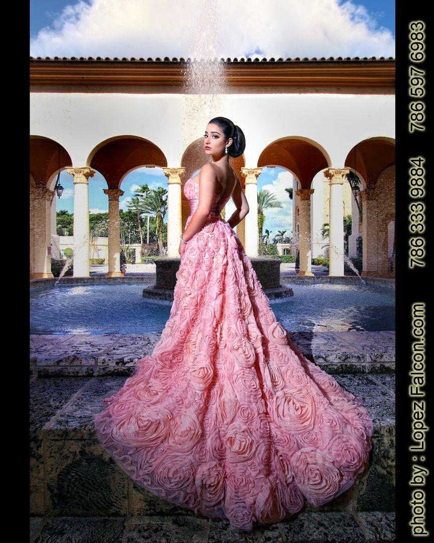 7038d3a879e Biltmore Hotel Quince Photography Miami Quinceanera Dresses Coral