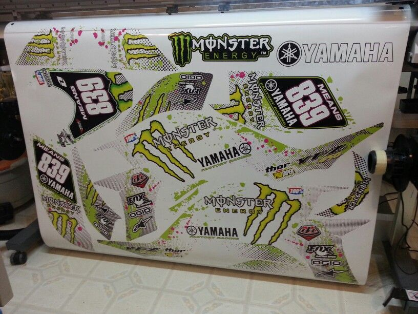 Yamaha YFZ 450 atv graphics kit. Kit by Fireblade Graphics and Signs. Like us on Facebook to see all our kits and to purchase them from our Facebook store.
