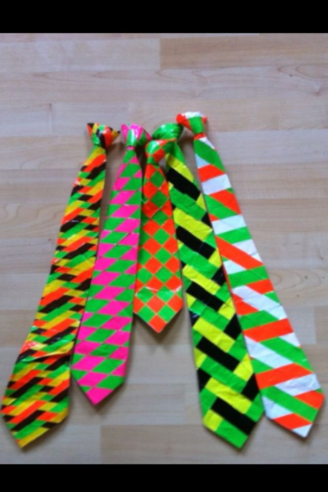 Catch Kids Being Good And Pin A Tie On Them Duct Tape Diy Duct Tape Crafts Duct Tape Projects