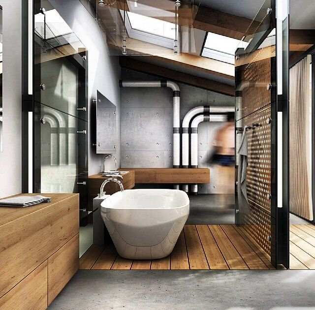 20 Industrial Bathrooms And Ideas For Your Home Decoholic Industrial Bathroom Decor Industrial Style Bathroom Industrial Bathroom Design