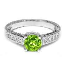 1.00 Ct Round Green Peridot White Sapphire 925 Sterling Silver Engagement Ring //  Description Astrological Sign: Leo, Virgo Meaning: Love, truth, faithfulness and loyalty. The traditional metaphysical properties for the August birthstone Peridot are fame, dignity, and protection. Healing properties of Peridot: Known to be effective with health problems related to the lungs, lymph, breast and si// read more >>> http://Rosella169.iigogogo.tk/detail3.php?a=B00EHPDNPS