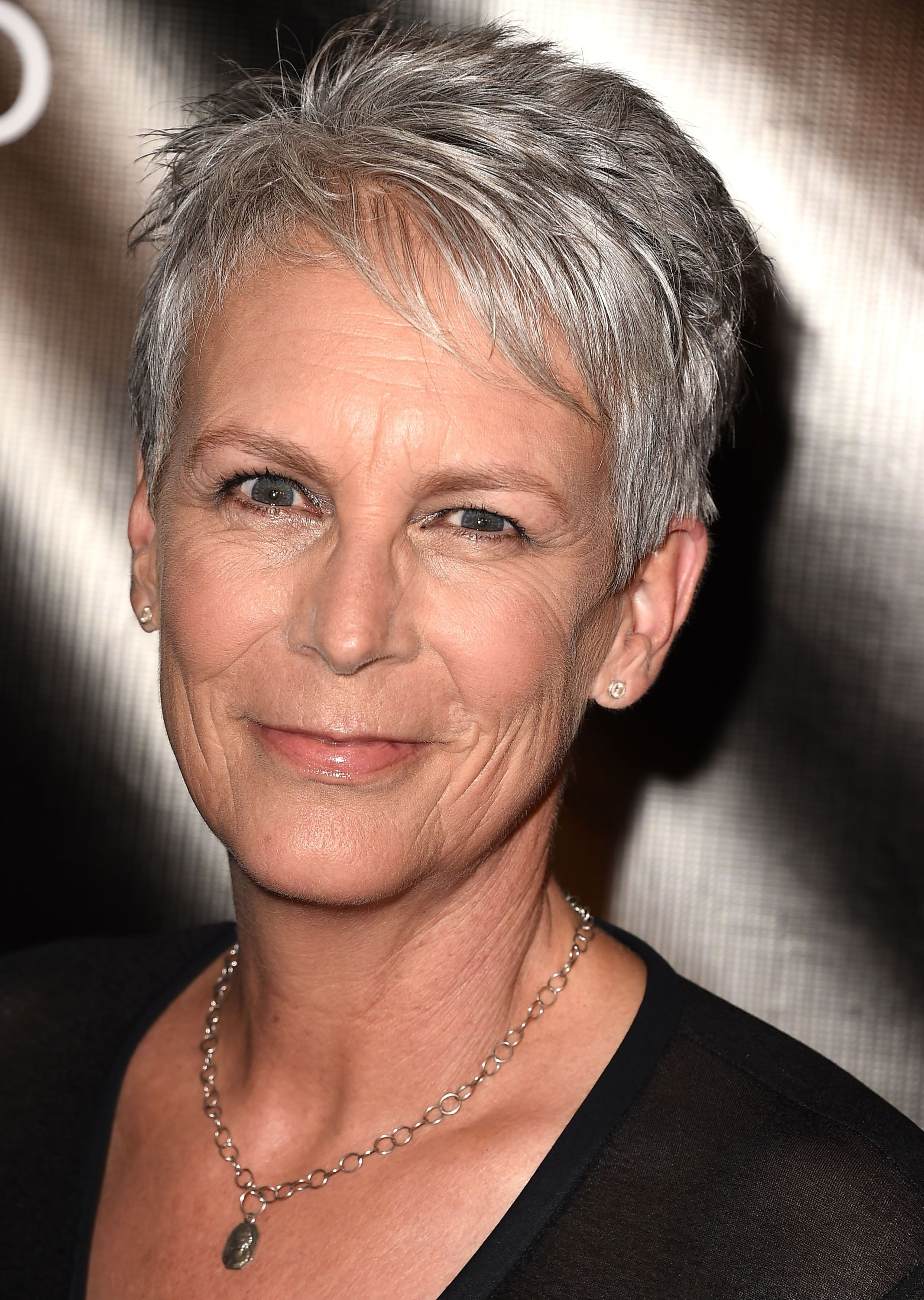 jamie lee curtis looks almost unrecognizable in costume at the