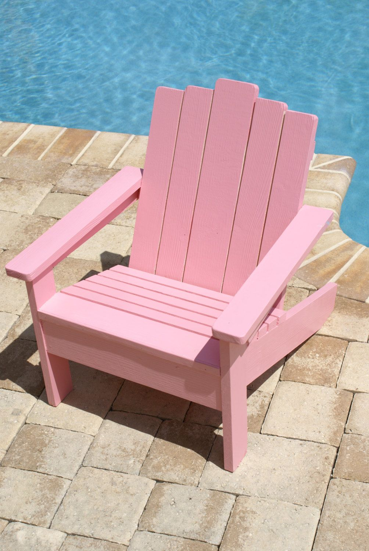 Pink Kids Adirondack Chair Kids Chair Adirondack by Adamzoriginals