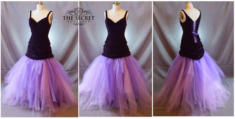Purple wedding dresscustom made wedding dressalternative