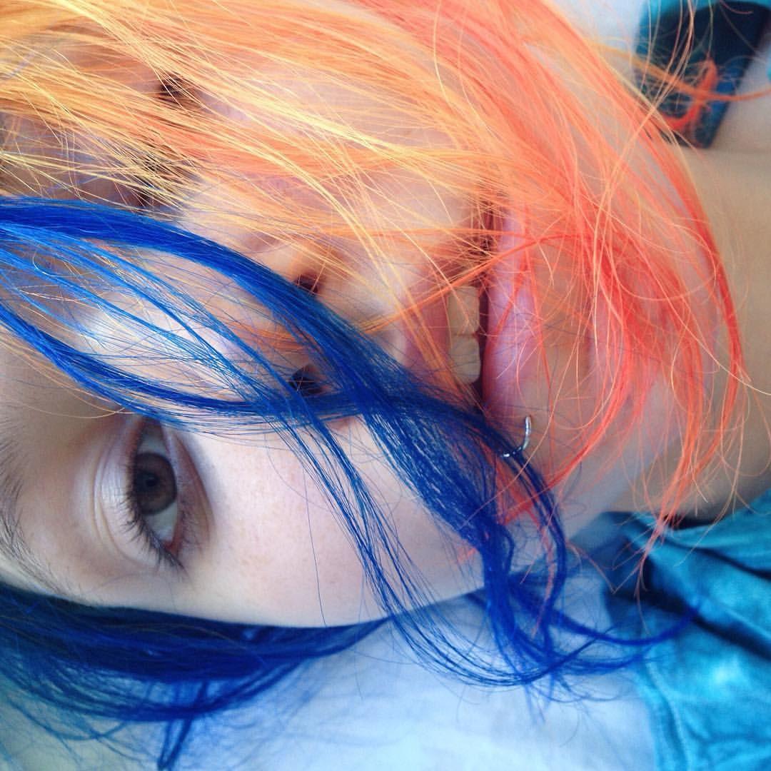 Vibrant locks hair colour hair dye bright aesthetic
