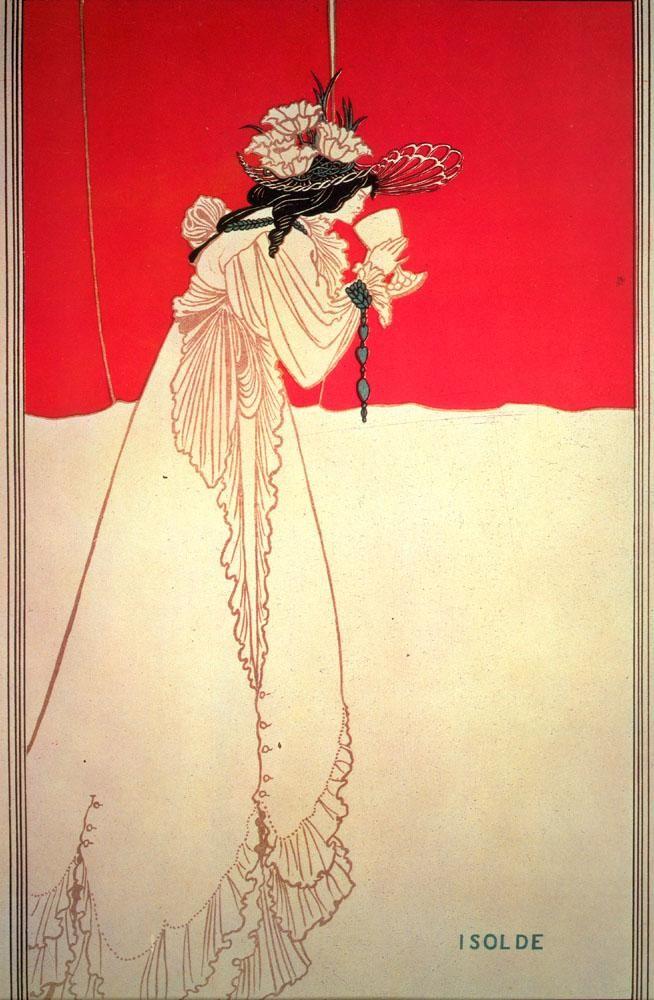Isolde, 1895, Art Nouveau style, United Kingdom, Aubrey Beardsley
