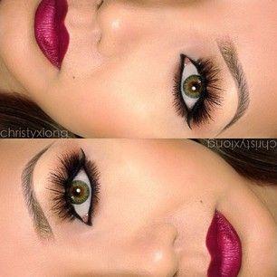 gorgeous #makeup #lips #eyes