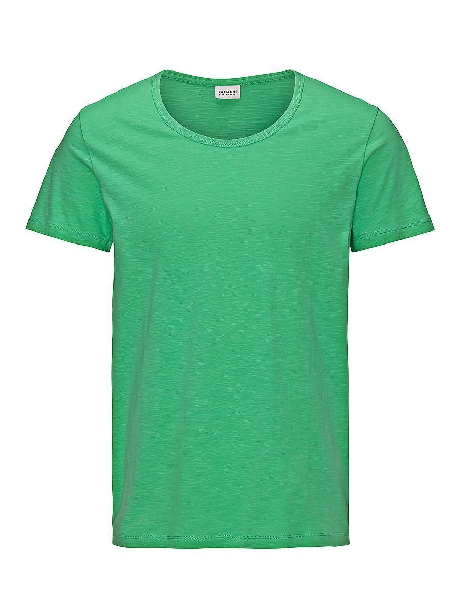 PREMIUM by JACK & JONES - T-Shirt von PREMIUM - Regular fit - Rundhalsausschnitt - Ungesäumte Kanten am Kragen - Hinten etwas länger geschnitten 100% Baumwolle...