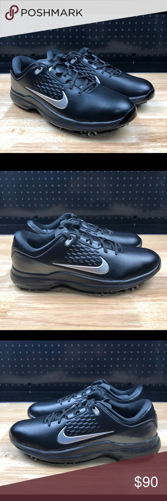 b56b710cf242 Nike Air Zoom TW71 Tiger Woods Golf Shoes Black Nike Air Zoom TW71 Tiger  Woods Golf Shoes Black Silver AA1990-002 Men s 9.5 New Without Box FAST  SHIPPING ...