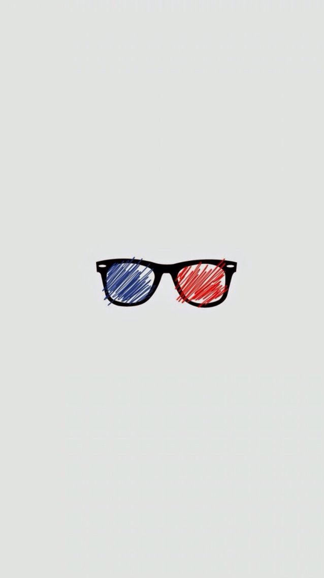 3d Glasses Find More Minimalistic Iphone Android Wallpapers At Iphone Wallpapers Glasses Wallpaper Iphone Wallpaper For Guys Hipster Wallpaper