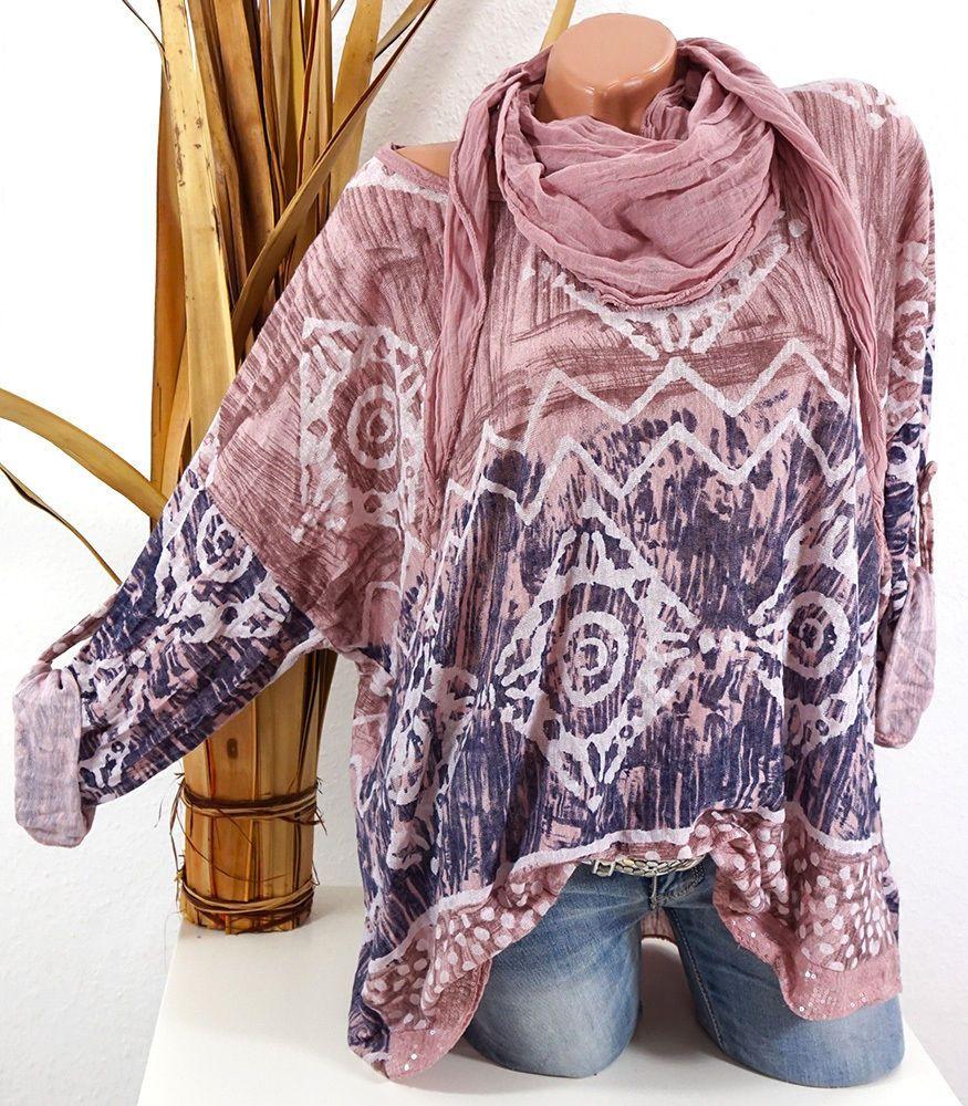 Pullover Damen Feinstrick Pulli Kette 40 42 44 46 Vintage Oversize korallerot