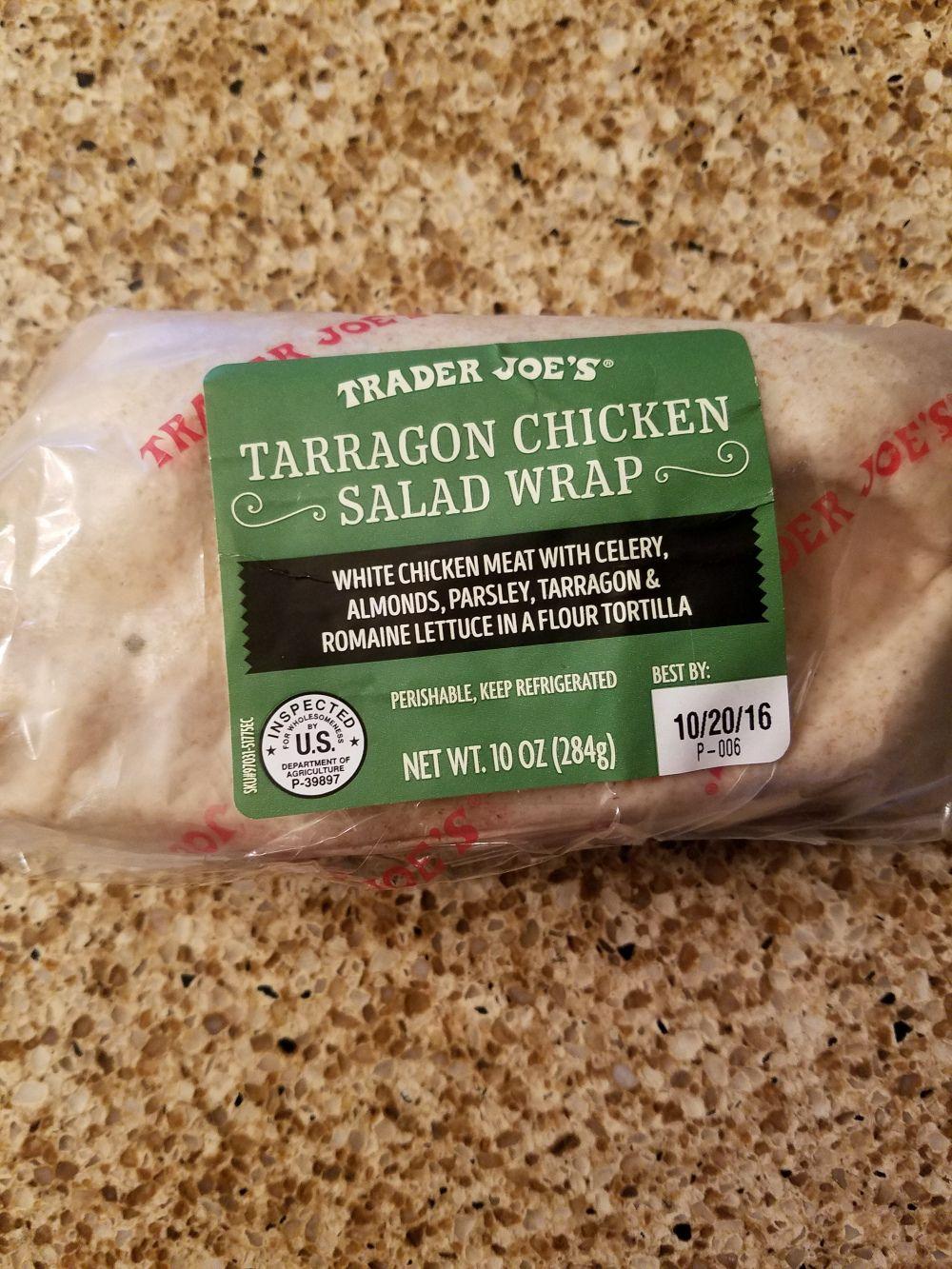 Trader Joe S Tarragon Chicken Salad Wrap