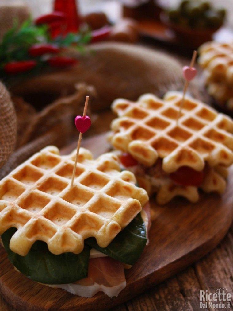 Ricetta Waffle Di Benedetta.Waffle Salati Ricetta Ricette Waffle Idee Alimentari