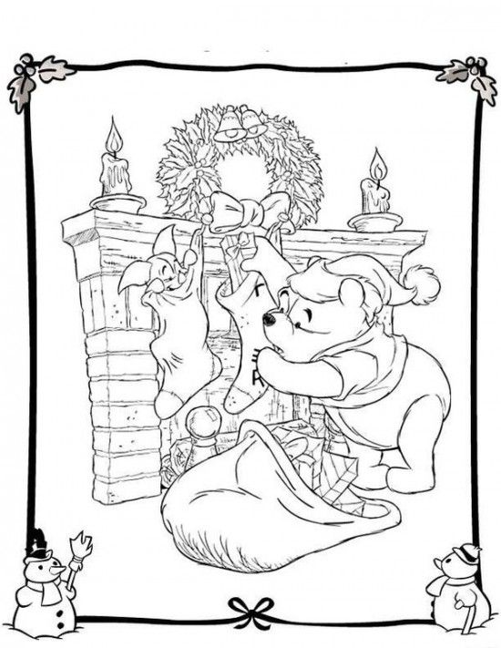 Best Free Disney Christmas Coloring Pages For Kids All About