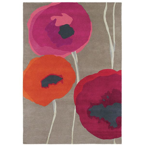 Sanderson Poppies Red Orange Rug 170x240cm 870 Liked On Polyvore Featuring