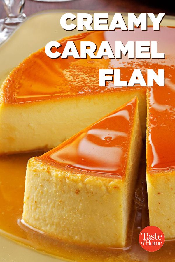 Creamy Caramel Flan is part of Caramel flan - A small slice of this impressively rich, creamy flan dessert goes a long way  What a delightful finish for a special meal or holiday celebration  —Pat Forete, Miami, Florida