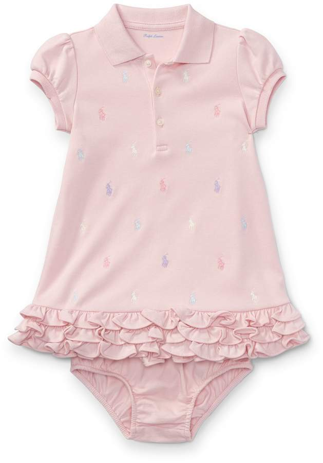 dbac022a35f7 Ralph Lauren Ruffled Polo Dress & Bloomer | Products | Baby bloomers ...