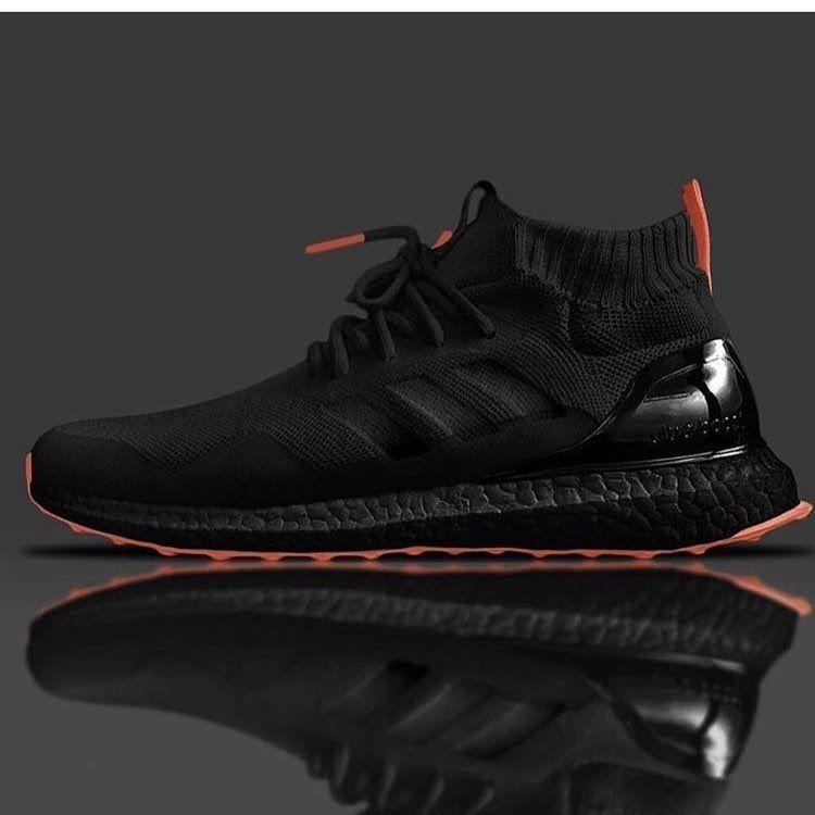 Adidas Ultra Boost Mid Black Orange Turnschuhe Manner Turnschuhe Sneaker Stiefel