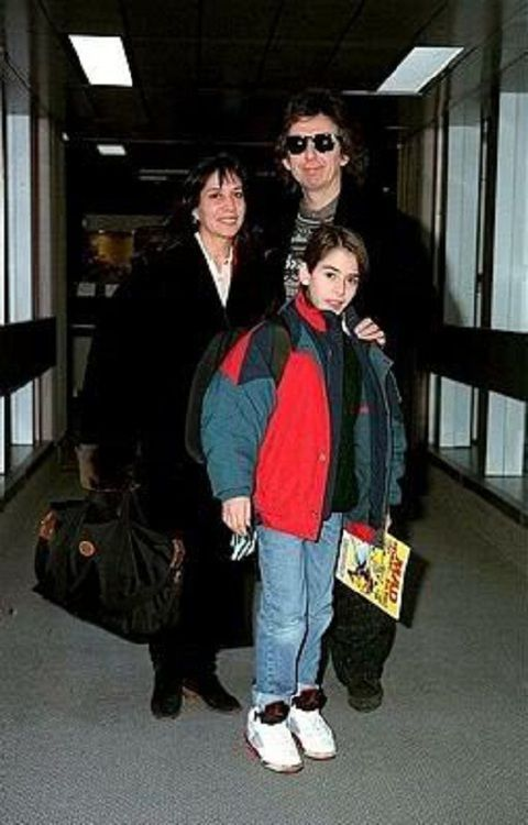 Olivia Arias Harrison George And Dhani Going On Vacation