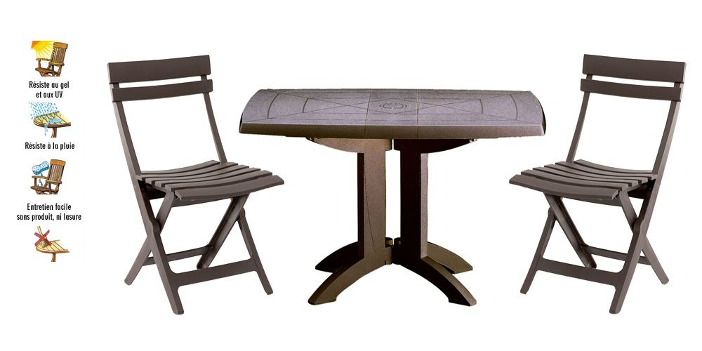prod 7318 Salon de jardin VEGA bronze GROSFILLEX 1 table ...