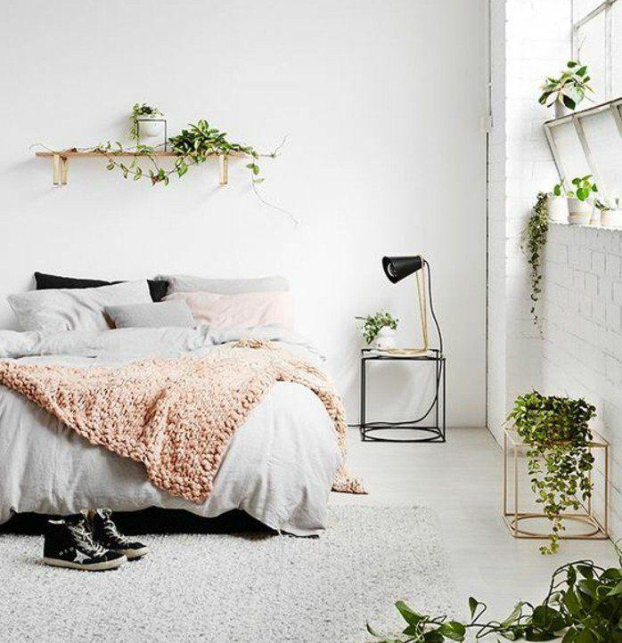 ▷1001+ idées pour une chambre scandinave stylée | Lit gris ...