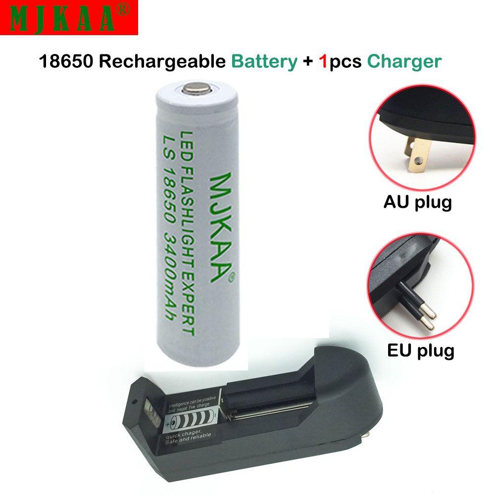 1pcs 18650 34000mah 3 7v Rechargeable Battery Lithium Li Ion Not Aa Aaa 1 18650 14500 16340 Eu Us Plug Led Flashlight Flashlight Rechargeable Battery Charger