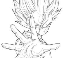 dbz gohan coloring pages - Super Saiyan Gohan Coloring Pages