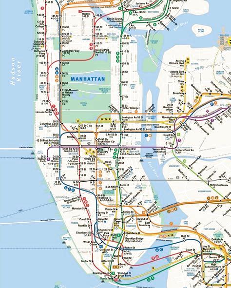 subway nyc map manhattan Pin On Maps