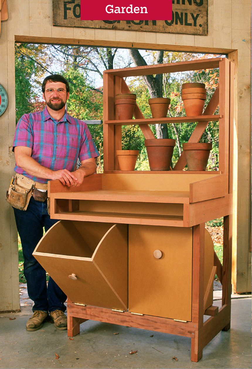 Build A Potting Station With Norm Abram S The New Yankee Workshop Plans Wood Crafting Tools Woodworking Projects Diy Woodworking Basics