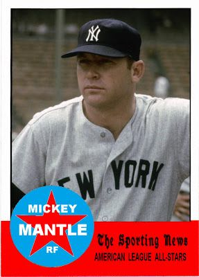 1963 Topps Mickey Mantle All Star New York Yankees Baseball Cards