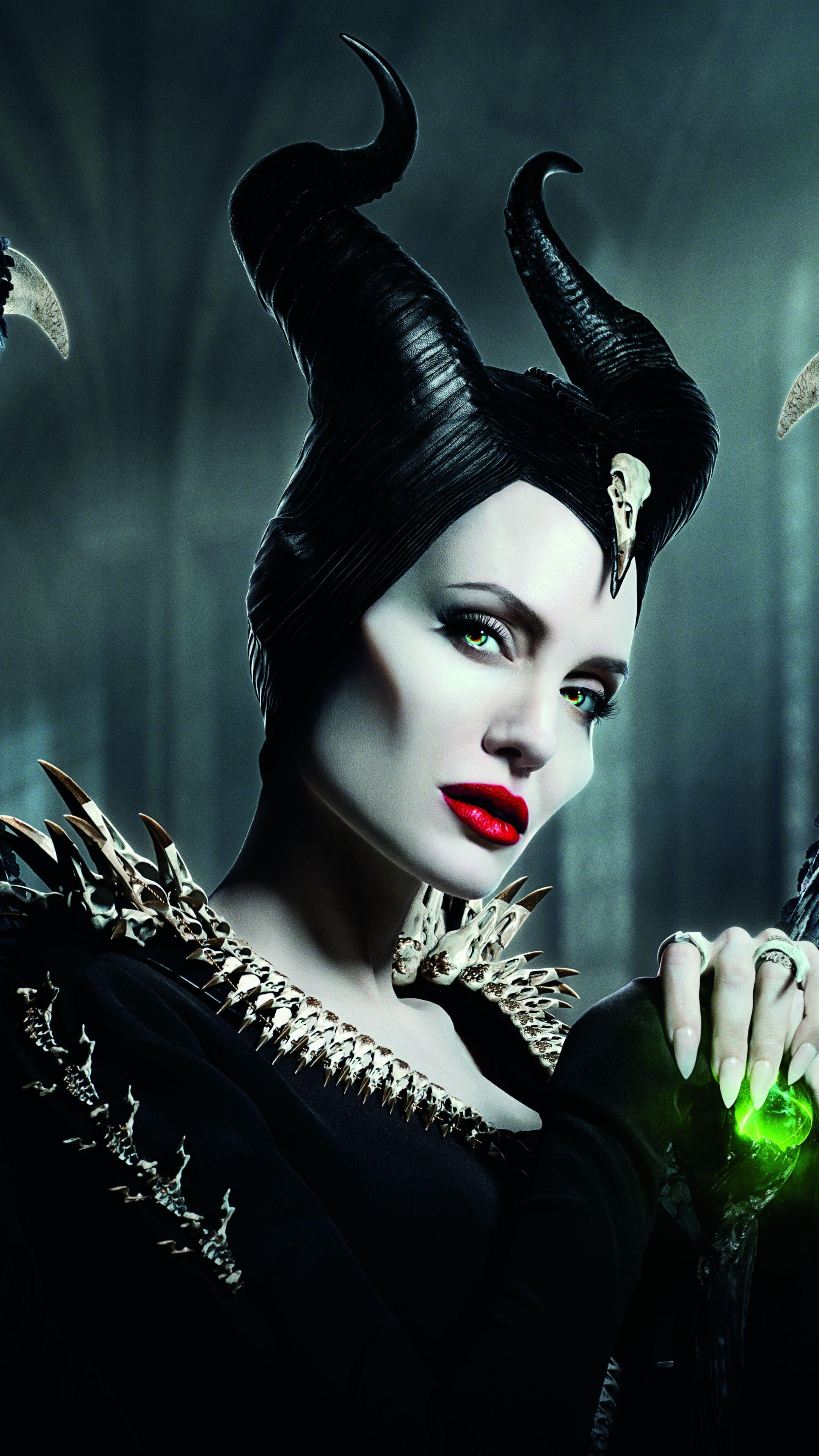 Maleficent: Mistress of Evil, witch, Angelina Jolie, 2019, 2160x3840 wallpaper