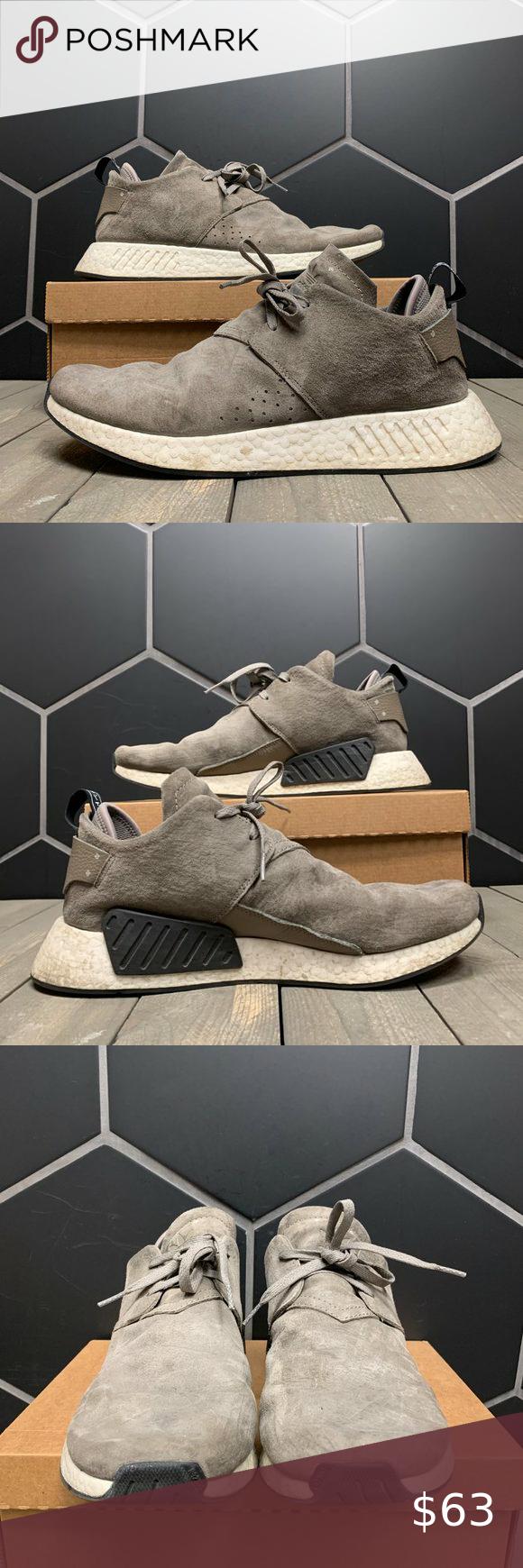 Used W/O Box! Adidas NMD C2 Suede Grey Size 12.5   Adidas nmd ...