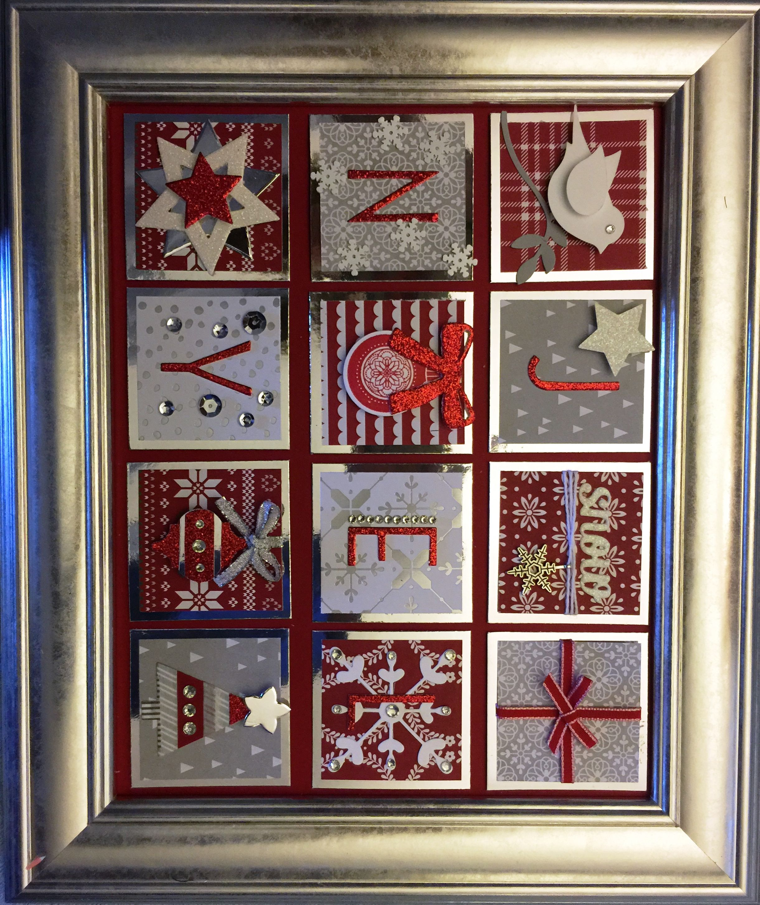 Stunning Red & Silver Wall Art Christmas collage