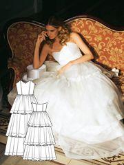 BurdaStyle Wedding Dresses: Pattern, Style Modification & Sewing | InterweaveStore.com