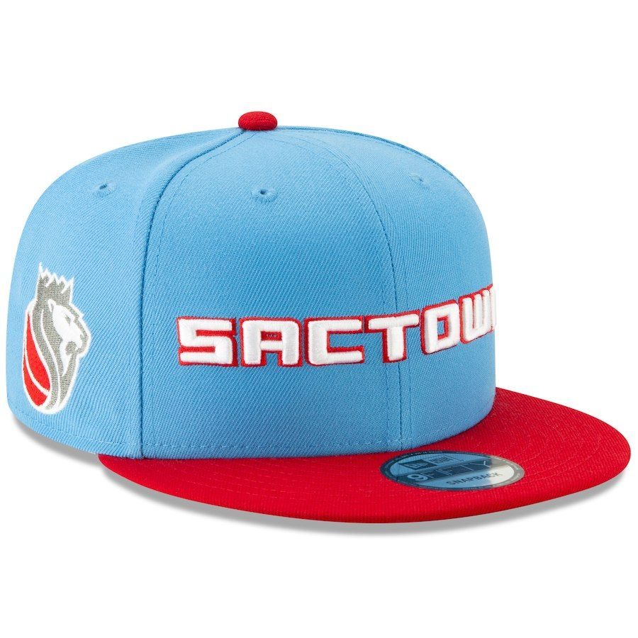 2b04473ac93 Men s Sacramento Kings New Era Light Blue 2018 City Edition On-Court 9FIFTY  Snapback