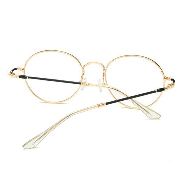 0e2b02fe7a Unisex Ultralight Radiation Protection Eyeglasseess Round Oval Metal Rim  Vintage Lens Glasses