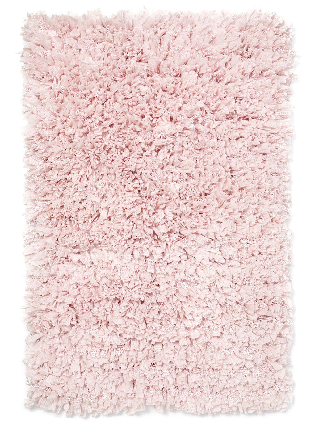 bathroom; pink paper lace vintage bath mat | around the apt