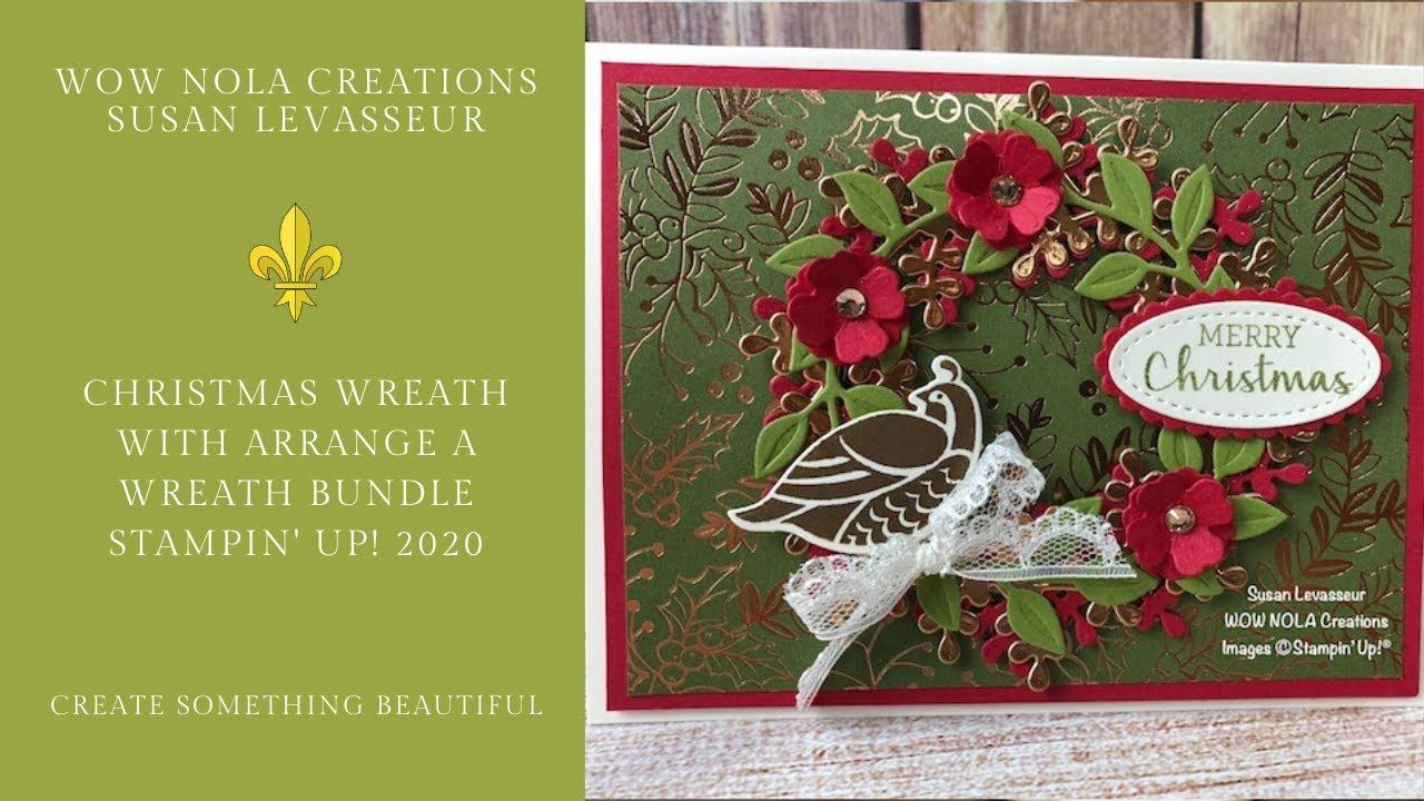Christmas Wreath with Arrange a Wreath Bundle Stampin' Up