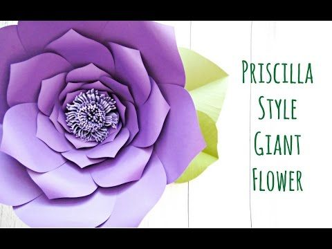 Everly Style - Extra Large Giant Paper Flower Templates | Paper ...