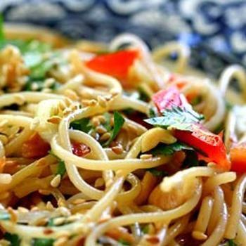 Sesame and Cilantro Vermicelli Salad