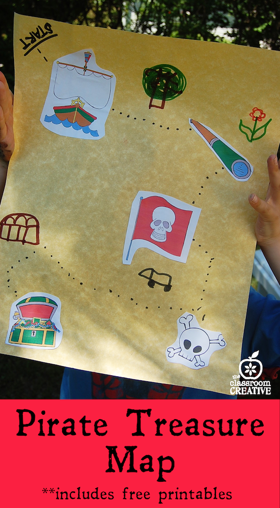 graphic about Free Printable Pirate Treasure Map named Printable pirate map match versus